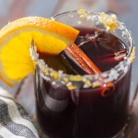 MULLED WINE MARGARITAS are fun, festive, and unique. This favorite hot spiced wine recipe has complex flavors and it warms the soul. This Mulled Wine Recipe is the ultimate Christmas margarita!