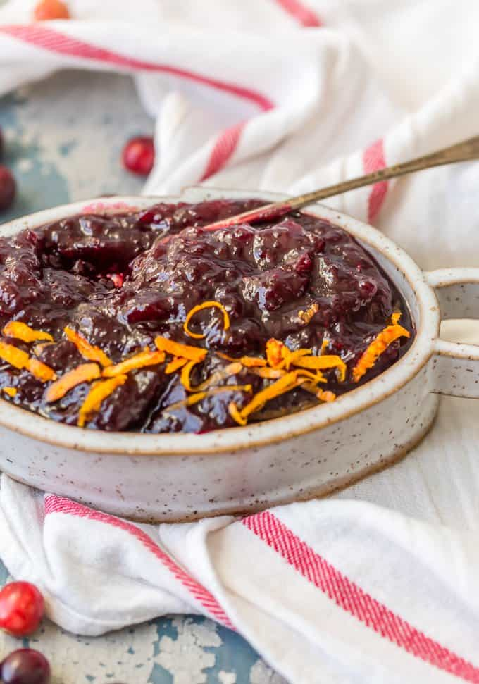 Homemade Cranberry Sauce Recipe With Orange Liqueur