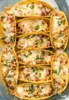 Easy Baked Chicken Tacos, the #1 MOST POPULAR RECIPE OF 2017! These TOP 10 RECIPES OF 2017 are our reader favorites on The Cookie Rookie for 2017. Everything from Easy Baked Chicken Tacos to lots and lots of queso. Comfort Food Soups to simple Chicken for a crowd. Did your favorite make the list?