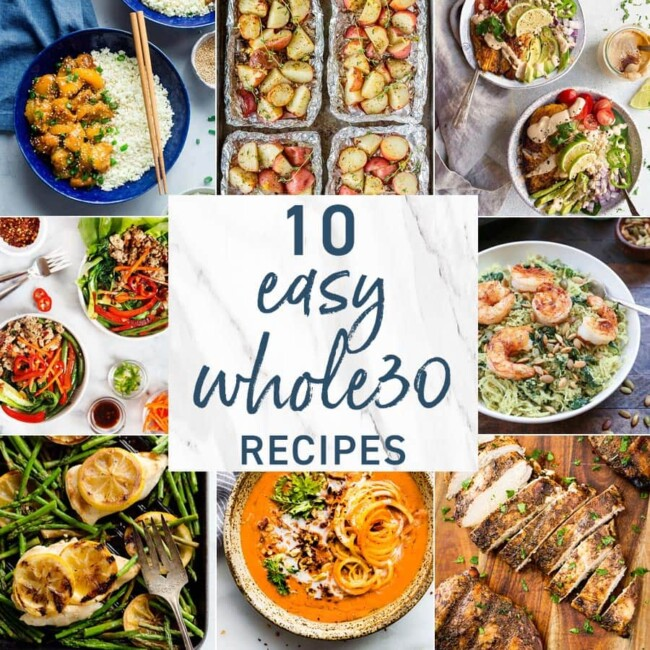 Whole 30 Recipes graphic