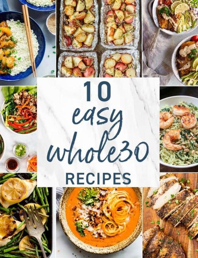Whole 30 Recipes graphic
