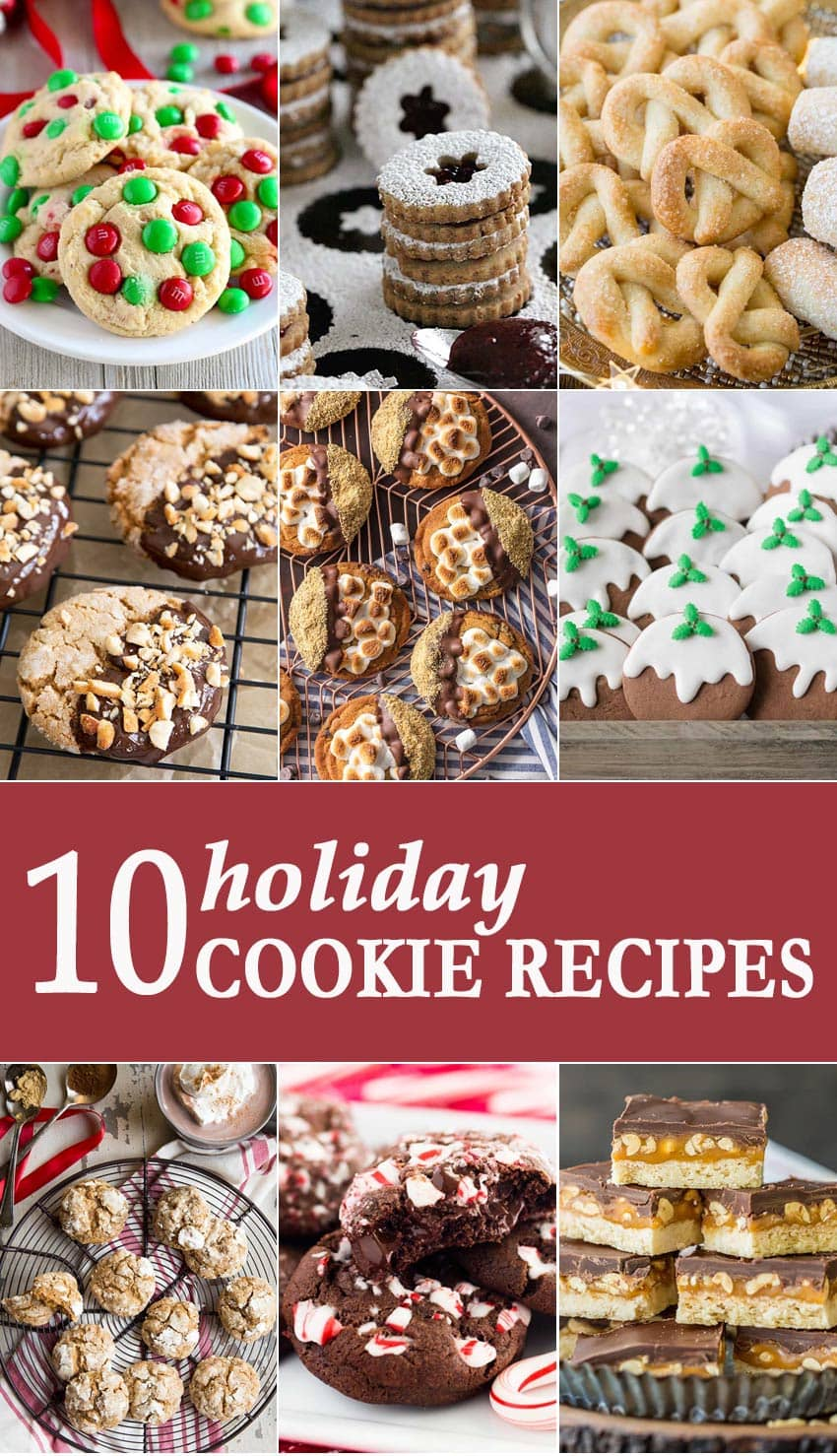 titled photo collage - 10 Holiday Cookie Recipes