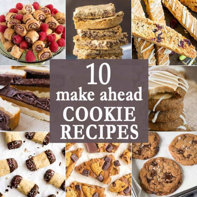 10 Make Ahead Cookie Recipes photo collage