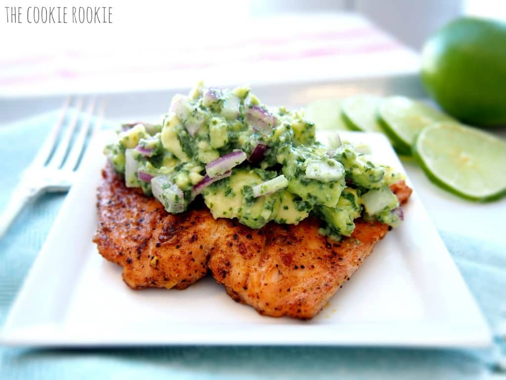 WHOLE 30 SALMON WITH AVOCADO SALSA, THE #3 MOST POPULAR RECIPE OF 2017. These TOP 10 RECIPES OF 2017 are our reader favorites on The Cookie Rookie for 2017. Everything from Easy Baked Chicken Tacos to lots and lots of queso. Comfort Food Soups to simple Chicken for a crowd. Did your favorite make the list?