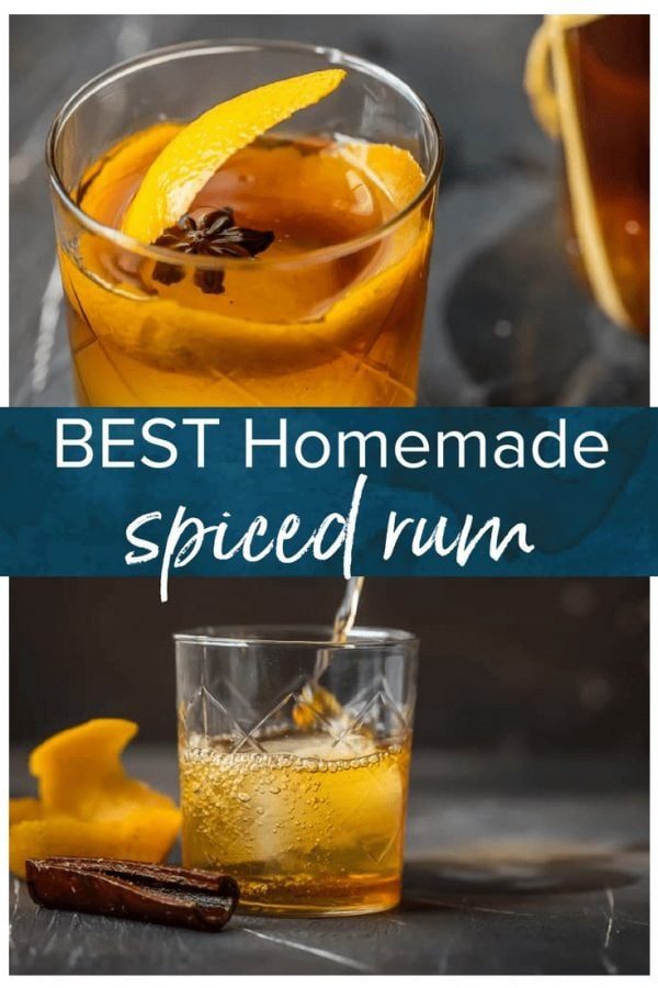 HOMEMADE SPICED RUM is so much easier than you think, and will blow you away with all the flavor! So much tastier than buying in store. This is the BEST Spiced Rum Recipe & it makes an awesome DIY Christmas gift!