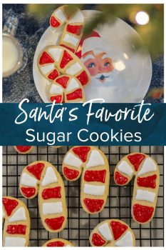 We call these easy cookies SANTA'S FAVORITE SUGAR COOKIE RECIPE because it's simple, classic, fluffy, and delicious. We love to decorate with the kids to leave under the tree for Santa.