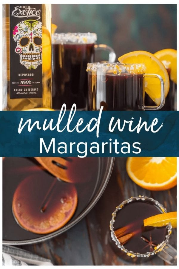 These SPICED MULLED WINE MARGARITAS are so fun, festive, and unique. This favorite holiday beverage has complex flavors and warms the soul. The ultimate Christmas cocktail.