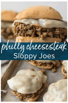 Philly Cheesesteak Sloppy Joes are an amazing easy weeknight meal that anyone can make and everyone will love. This simple recipe elevates a classic sloppy joe recipe loved by both kids and adults alike. You can't go wrong with Sloppy Joes for dinner! MMM.