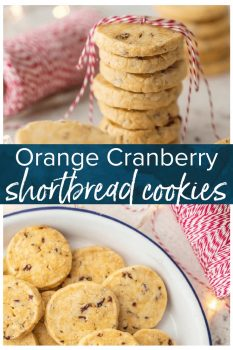 We are absolutely addicted to these ORANGE CRANBERRY SHORTBREAD COOKIES! It's one of our favorite Christmas cookie recipes and a must make for the holiday season.