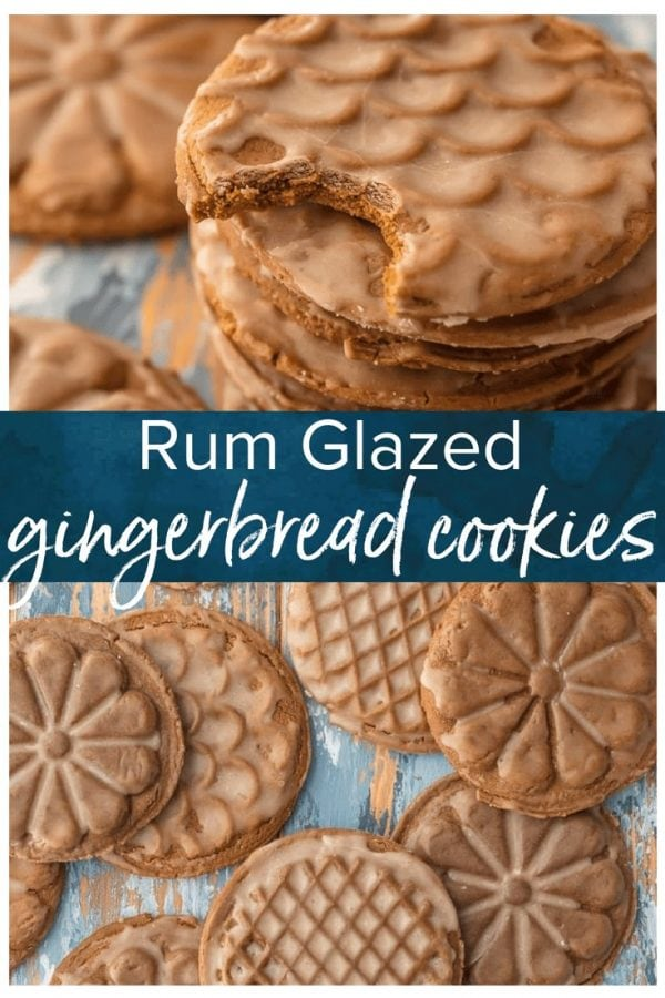 RUM GLAZED SOFT GINGERBREAD COOKIES are absolutely DELICIOUS and so full of flavor. This Christmas cookie recipe is fabulous for Christmas baking and makes the perfect cookie exchange recipe.