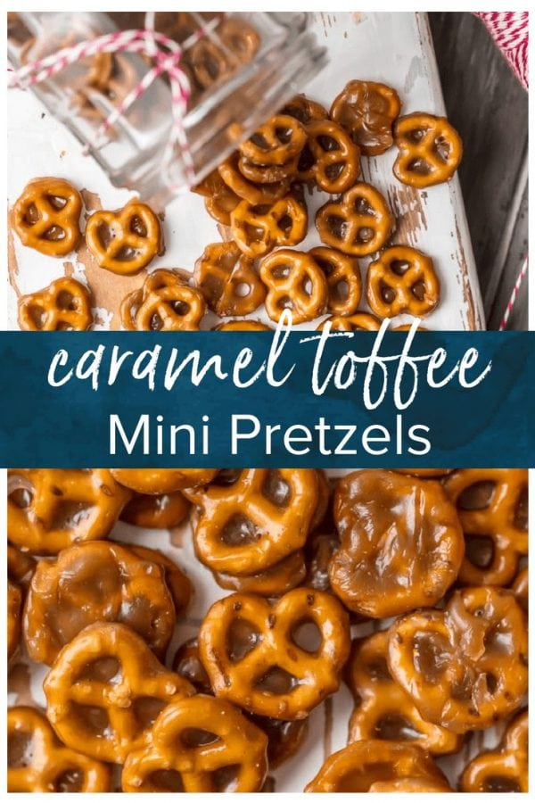 If you're looking for an easy sweet treat, BUTTER TOFFEE CARAMEL PRETZELS are divine! These mini pretzels doused in toffee are simple yet addicting...making them the ultimate holiday snack.
