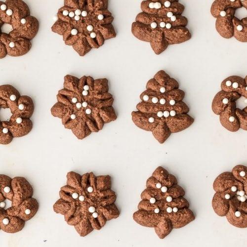 Chocolate Spritz Cookies Gluten Free