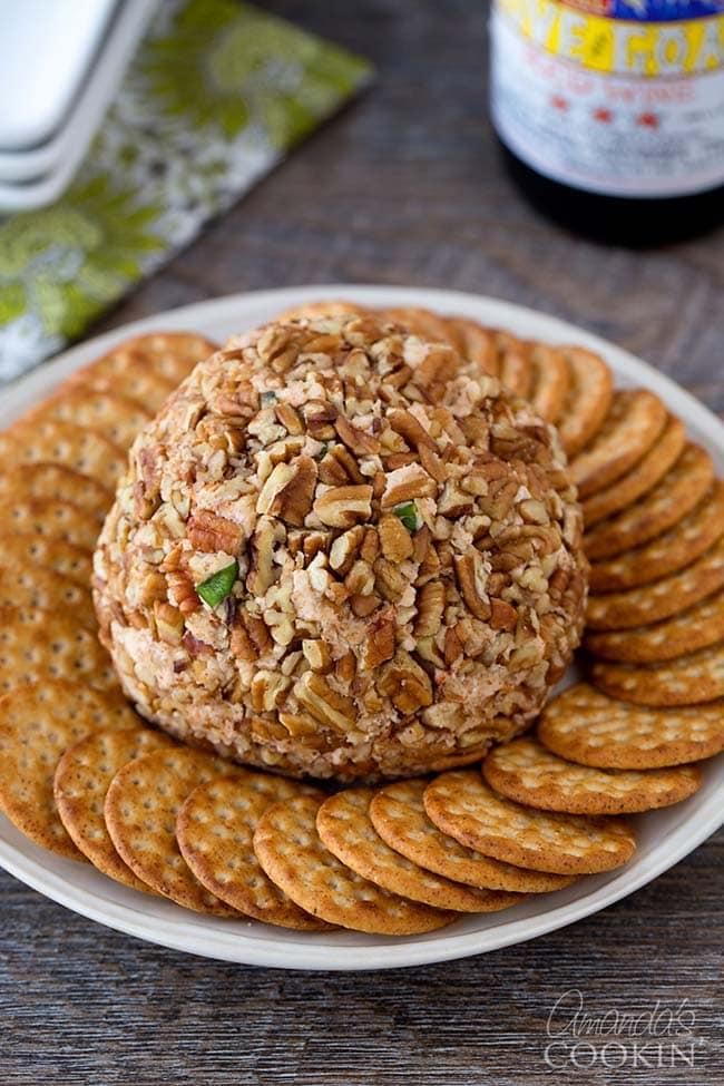 Gouda and Sun Dried Tomato Cheese Ball | Amanda's Cookin'