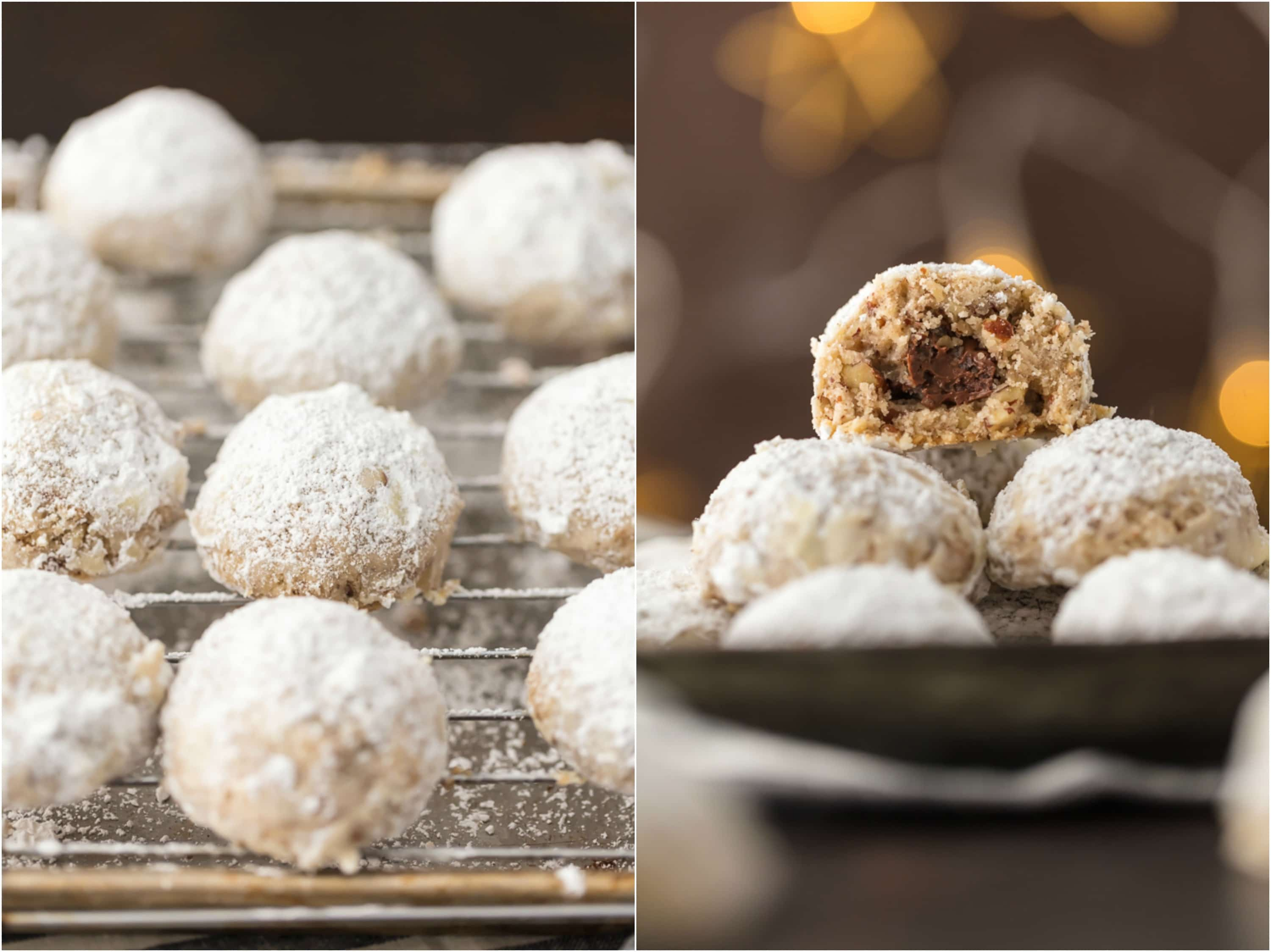 Snowball Cookies Recipe Nutella Stuffed Cookies The Cookie Rookie