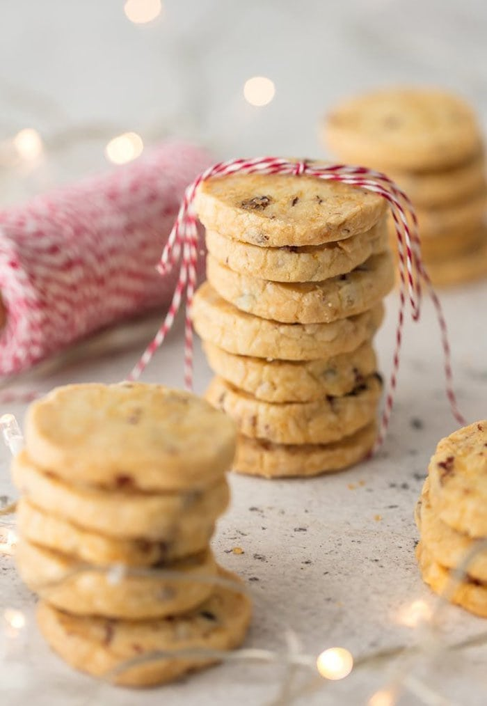 Orange Cranberry Shortbread Cookies | The Cookie Rookie