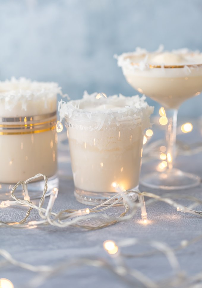 3 glasses of non-alcoholic SNOW PUNCH