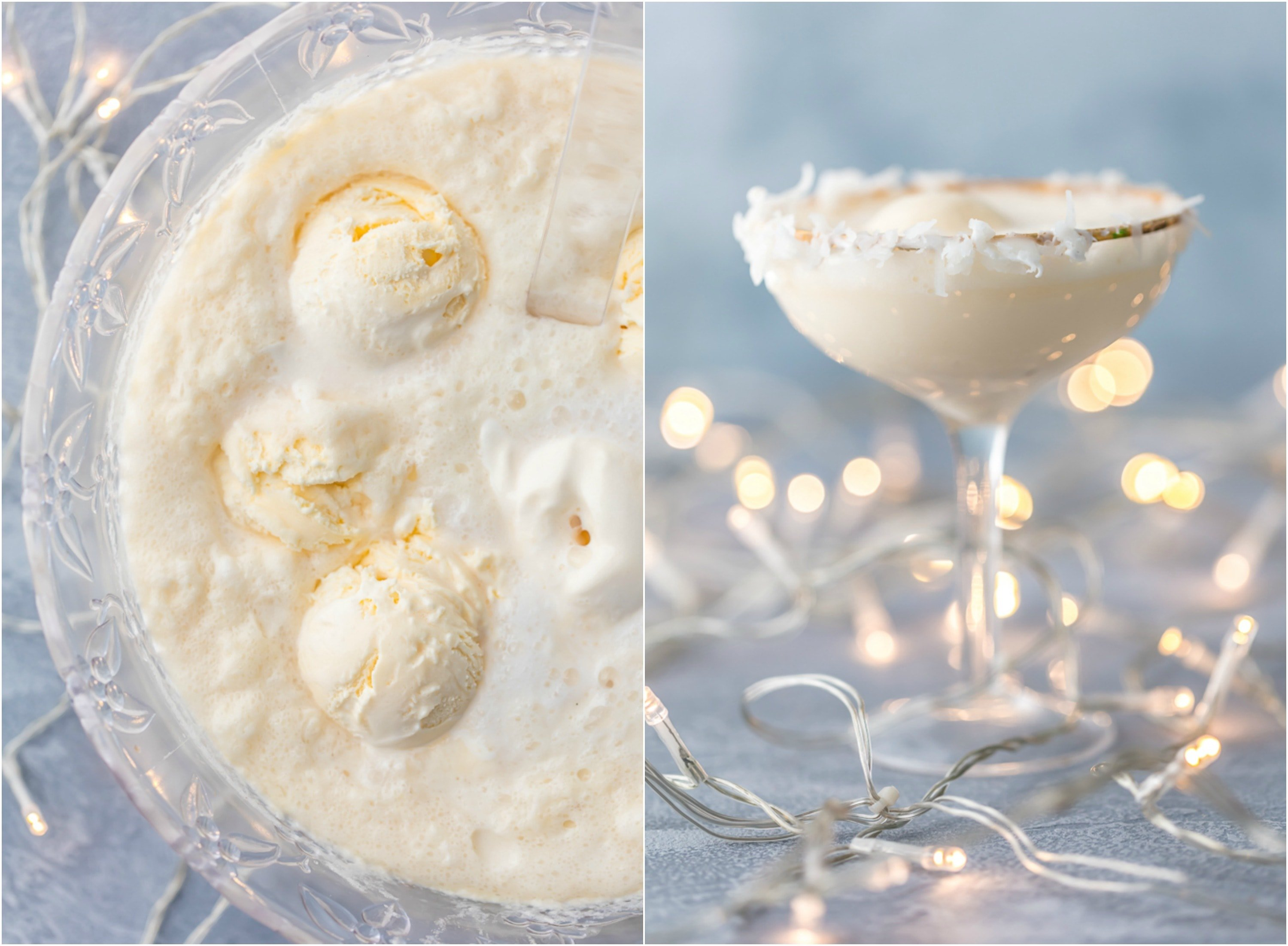 SNOW PUNCH vanilla non-alcoholic holiday punch photo collage