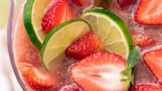 Sparkling Strawberry Margarita Punch
