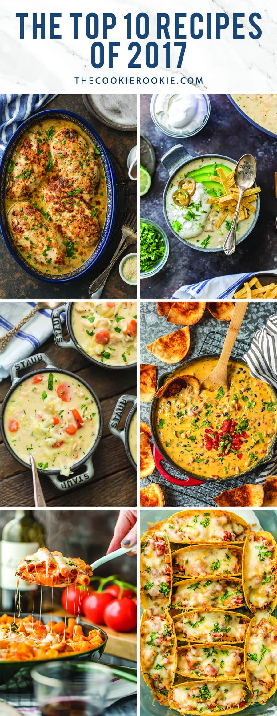 10 popular recipes from 2017 collage image