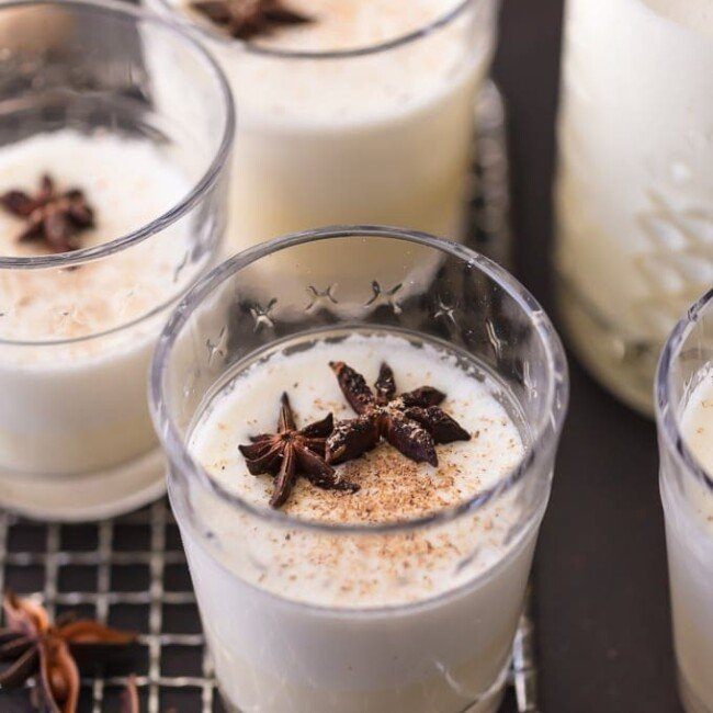 This HOMEMADE EGGNOG RECIPE is so much better than the store bought kind! It's a creamy Christmas drink recipe for traditional eggnog that is a must make for the holidays. No Christmas is complete without this Traditional Eggnog Recipe!