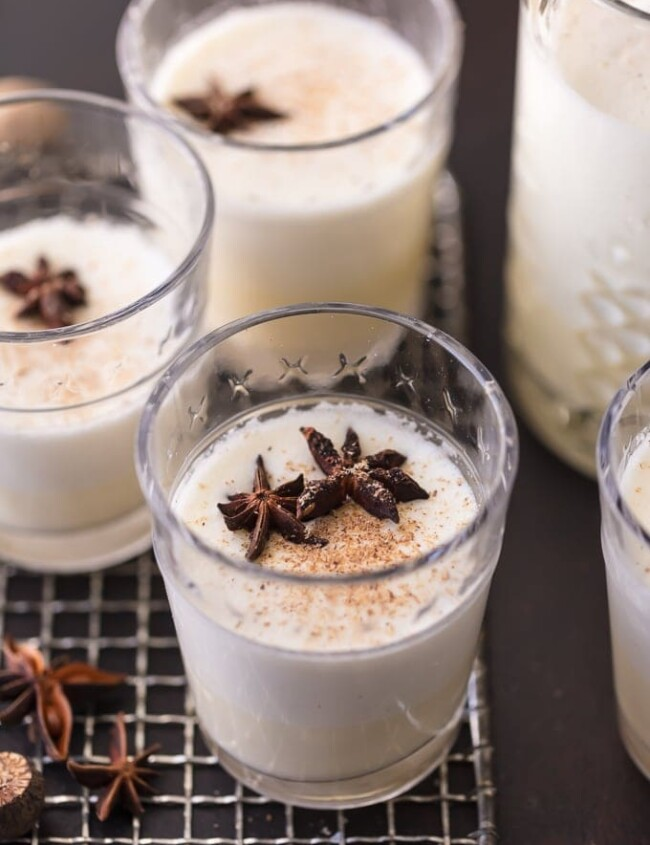 This HOMEMADE EGGNOGRECIPE is so much better than the store bought kind! It's a creamy Christmas drink recipe for traditional eggnog that is a must make for the holidays. No Christmas is complete without this Traditional Eggnog Recipe!