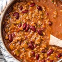 This is the BEST EASY CHILI RECIPE! Our 6 Ingredient Lazy Day Chili is one of our favorite recipes to make for a crowd. It's so easy and so flavorful! Since it only contains 6 ingredients, you most likely already have this stuff in your pantry. It's perfect for game day and absolutely fool-proof. You won't believe how tasty this easy chili recipe is!