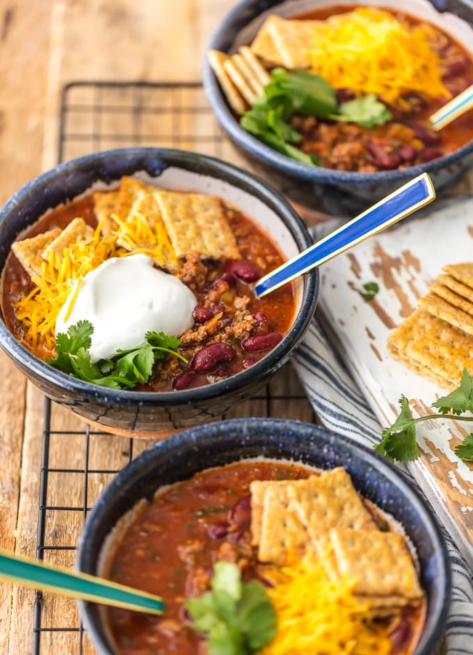Best Easy Chili Recipe in 3 bowls