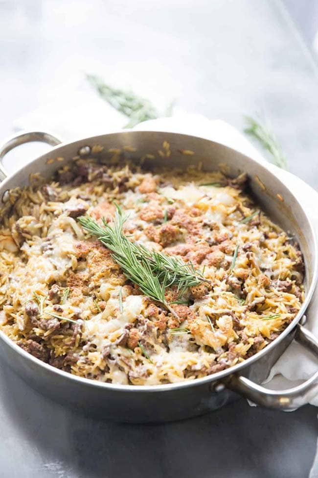 French Onion Skillet Casserole | Lemons For Lulu