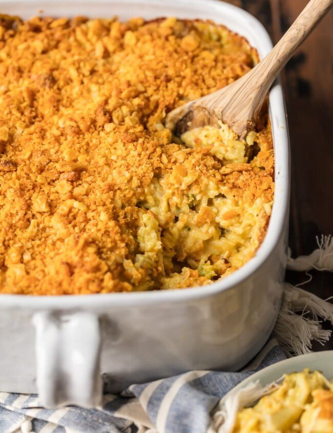 casserole in a dish with spoon