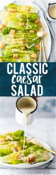 This CLASSIC CAESAR SALAD is the only salad recipe you'll ever need! Everything is made from scratch, from the croutons to the dressing. If you want to impress your guests or family, this amazingly flavorful and perfect Caesar Salad is the perfect starter to any delicious meal.