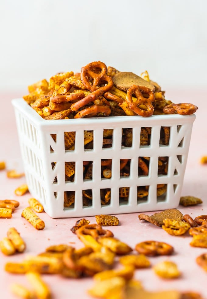 Gardettos are my weakness for salty spicy snack mix. This recipe for HOMEMADE GARDETTO'S is a fun and easy way to make a delicious snack mix for your family! We love the flavor and that you can control all of the ingredients to make it just like your family loves it. This Gardettos Recipe is perfect for tailgating, homemade gifts, family BBQs, or holiday get togethers. No need to buy it when you can make it at home!
