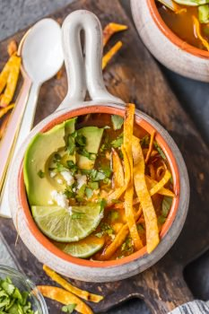 Instant Pot Chicken Tortilla Soup is so flavorful, comforting, easy, and perfect! If you love Chicken Tortilla Soup, you'll LOVE this Instant Pot Chicken Soup version. The entire family will love this classic Easy Chicken Tortilla Soup recipe with a pressure cooker twist.