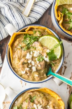 This INSTANT POT CHILI VERDE is made in minutes, full of flavor, and sure to warm your soul this Winter. All the spice in all the right places! We love to fry tortillas and lay at the bottom of the bowl for extra crunch and texture.