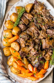 This INSTANT POT CLASSIC POT ROAST is the only recipe I need in life! There's something about the tender meat, potatoes, carrots, and THAT SAUCE that is so comforting and delicious. My all-time favorite meal.