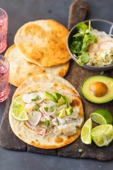 Cod Fish Tacosare so fresh and delicious. The flavors in these Margarita Fish Tacos are off the hook! Citrus from limes, oranges, and tequila brighten the cod fish flavors and when mixed with the acidic slaw these just cannot be beat. ThisCod Fish Taco Recipeis the ultimate light recipe to start off the new year. Healthy can be just as delicious as this creative Tex-Mex recipe proves.