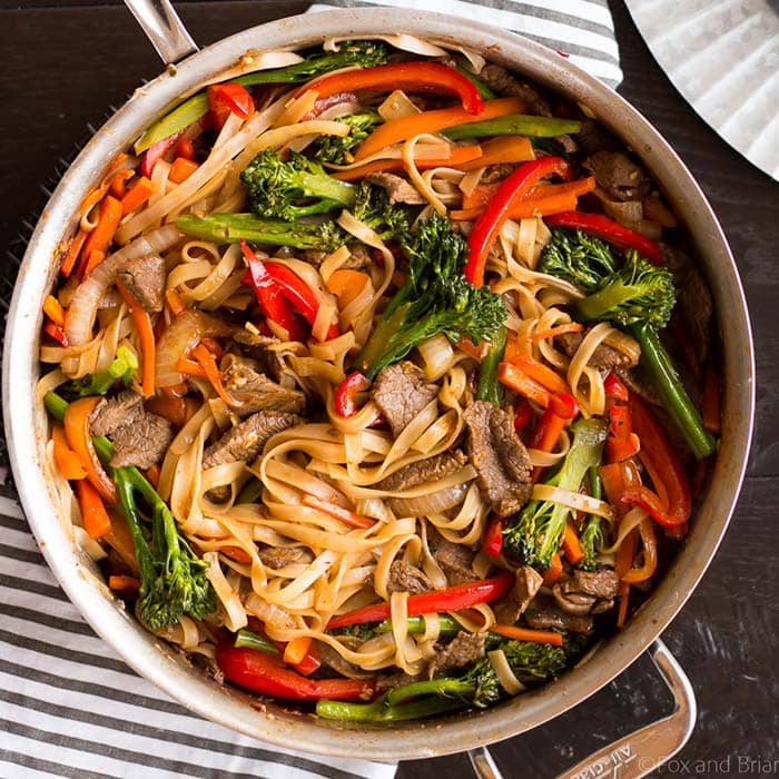 Beef Noodle Stir Fry | Fox and Briar