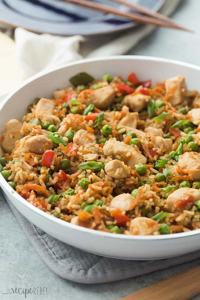 One Pot Teriyaki Chicken, Rice and Vegetables | The Recipe Rebel