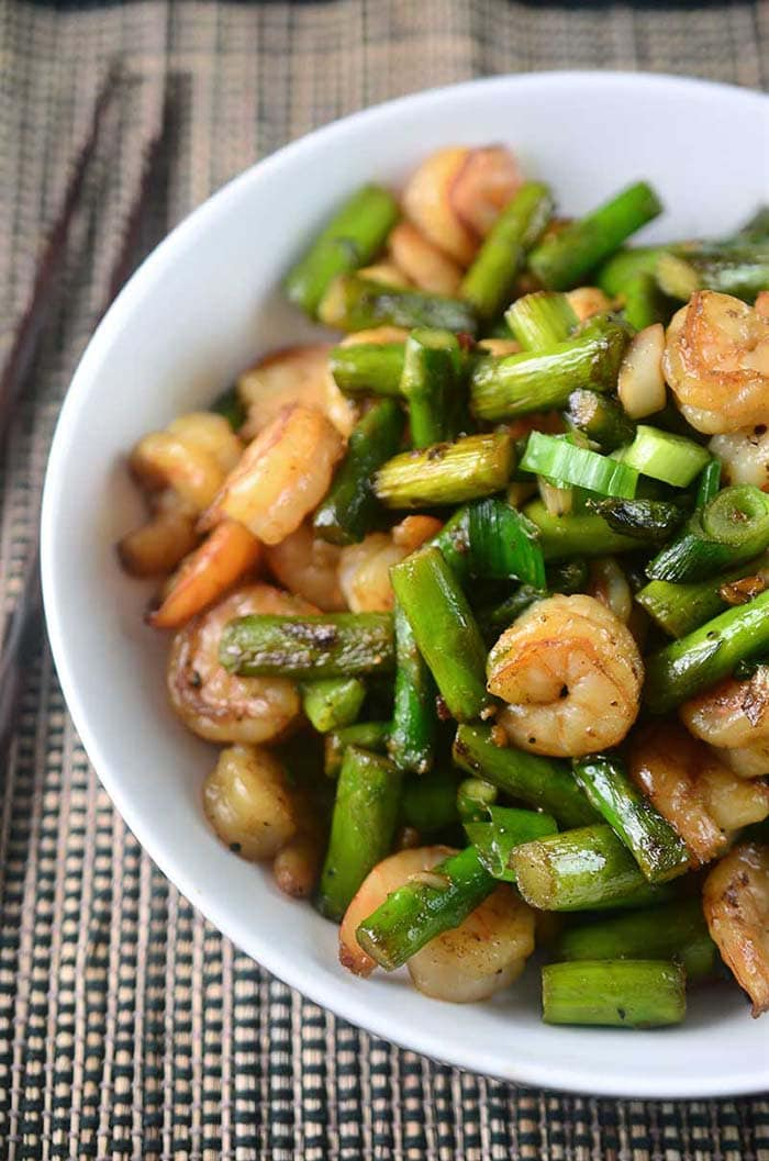 Shrimp and Asparagus Stir Fry | Life's Ambrosia