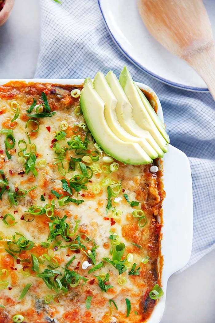Spaghetti Squash Enchilada Casserole | Lexi's Clean Kitchen