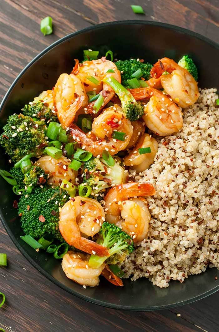 Szechwan Shrimp and Broccoli | Peas and Crayons