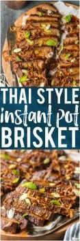 I'm obsessed with this THAI STYLE INSTANT POT BRISKET! The flavor is incredible and the pressure cooker makes things so quick and easy. This is a winning recipe that our family will make again and again.