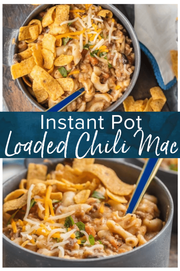 instant pot loaded chili mac pinterest photo