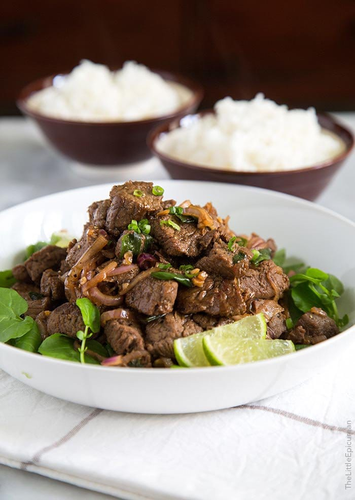 Stir Fry Beef with Onions and Scallions | The Little Epicurean