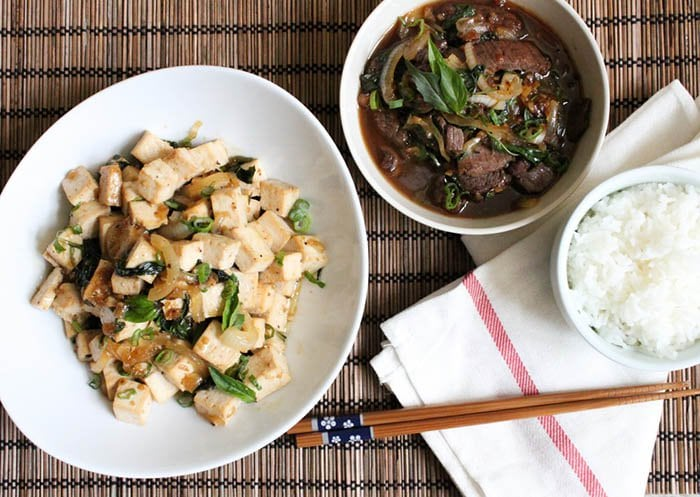 Spicy Basil Beef Stir Fry (And Spicy Basil Tofu) | The Little Epicurean