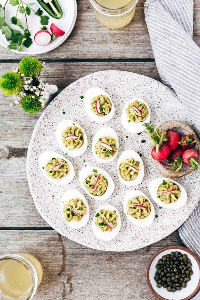Avocado Deviled Eggs | Foolproof Living