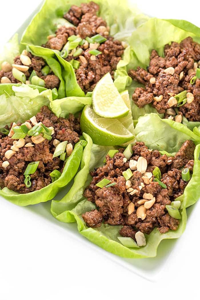 Szechuan Beef Lettuce Cups | The Lemon Bowl