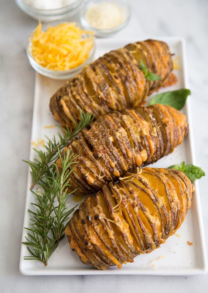 Cheesy Accordion Potatoes | The Little Epicurean