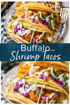 Buffalo Shrimp Tacos- Pinterest collage