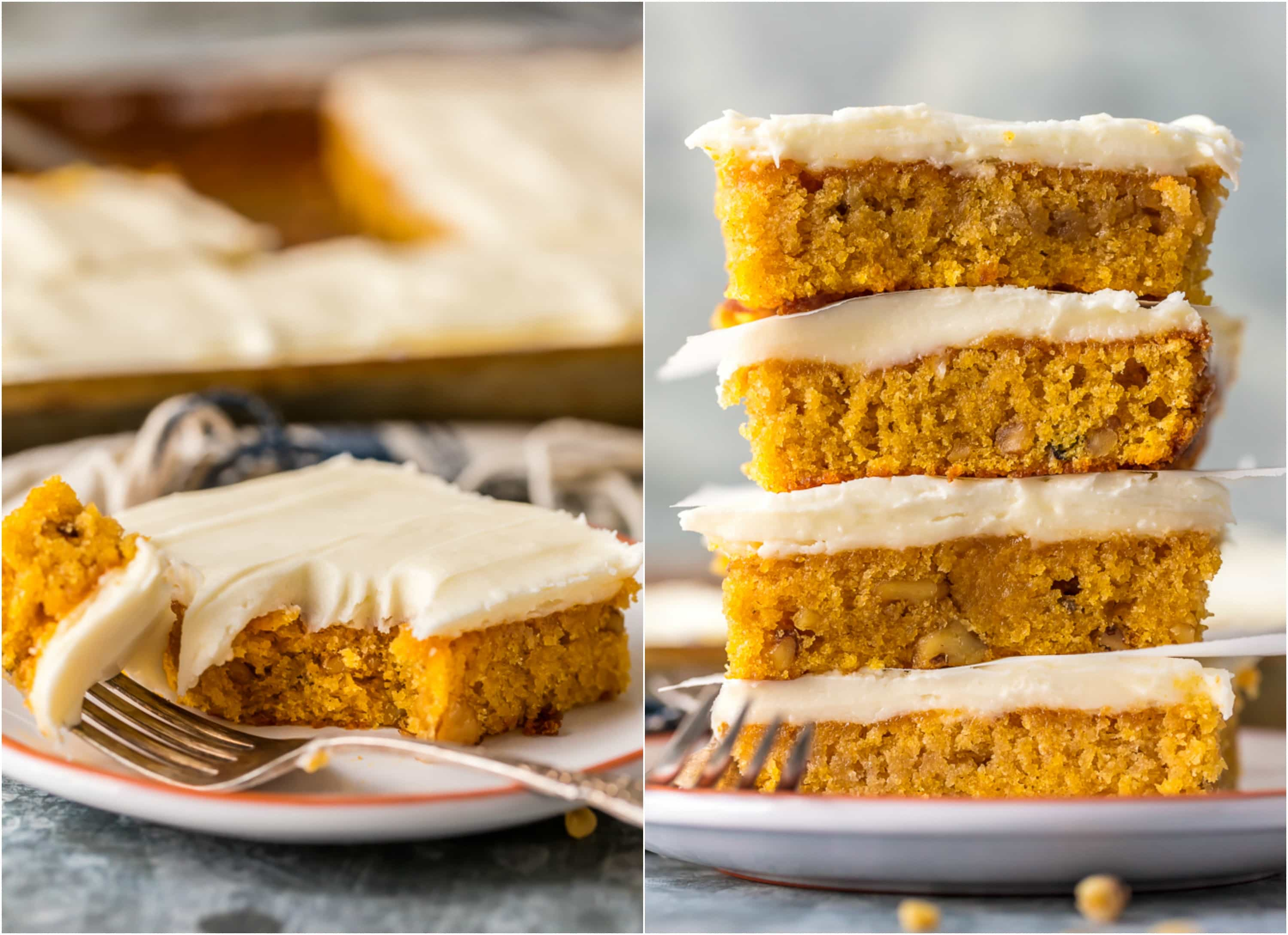 how to make carrot cake bars step by step photos