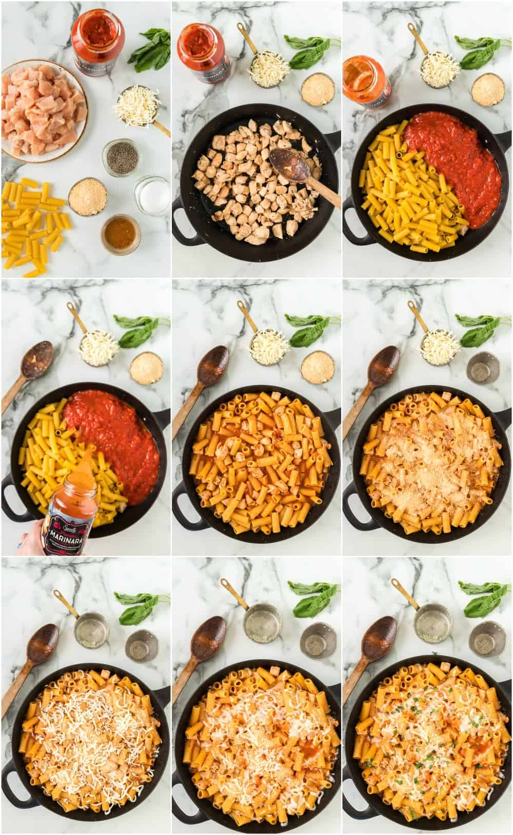 how to make chicken parmesan pasta step by step photos process shots